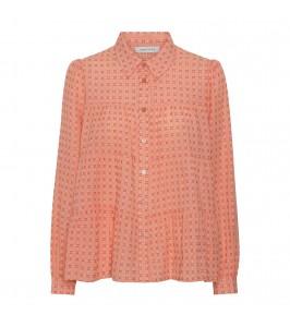 langærmet bluse orange continue