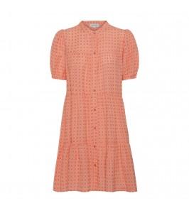 kort orange ternet sanna kjole continue