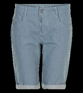shorts hvid og blå striber in front