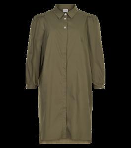 lang skjorte army grøn in front