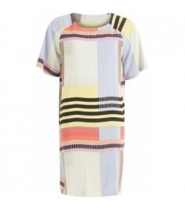 kjole multicolor print coster copenhagen