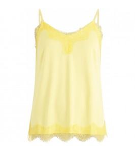 stroptop med blonder gul Coster copenhagen