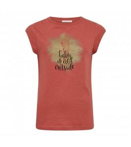 T-shirt med print guld print coster copenhagen