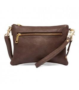 clutch lille taske mørkebrun depeche