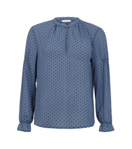 bluse blå med prikker coster copenhagen