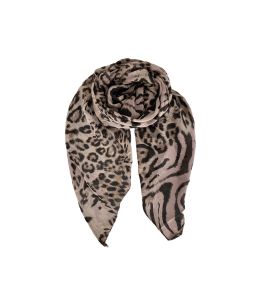 tørklæde rosa leopardprint black colour