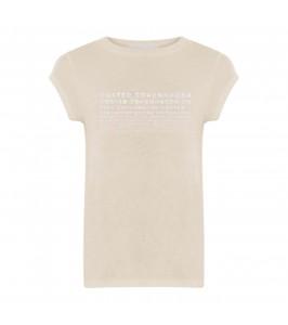 dame t-shirt m. print creme coster copenhagen