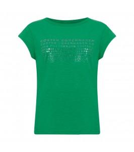 dame t-shirt m. print grøn coster copenhagen