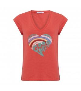 dame t-shirt m. print koral coster copenhagen