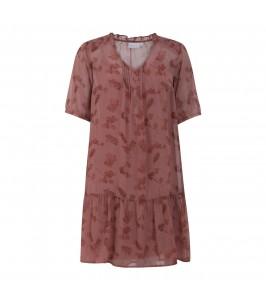 kort kjole i rødt print coster copenhagen