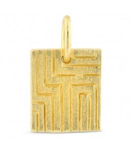 firkantet vedhæng guld pure by nat
