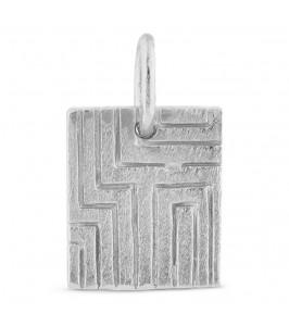 firkantet vedhæng sølv pure by nat