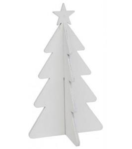 Ib Laursen Juletræ med stjerne Hvid 20 cm-20