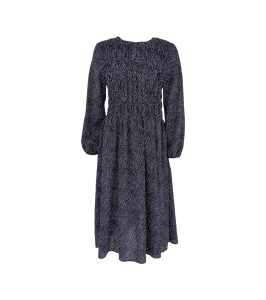 bæk og bælge smock kjole sort hvide prikker black colour