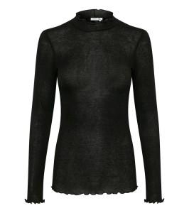 langærmet sort bluse saint tropez