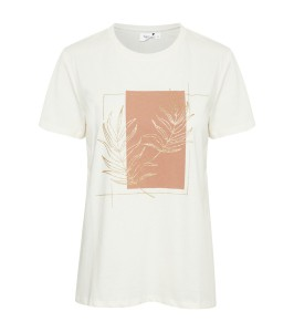 hvid t-shirt med print saint tropez