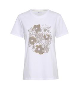 dame tshirt glimmerprint hvid saint tropez
