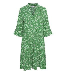 kort kjole grøn blomsterprint saint tropez