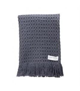 Lene Bjerre Molise Waffel Towel Dark Cement / 50x100-20