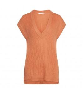strik vest terracotta co couture