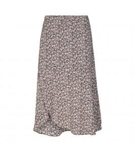 lang nederdel blomsterprint co couture black