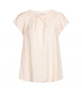 kortærmet damebluse hvid co couture