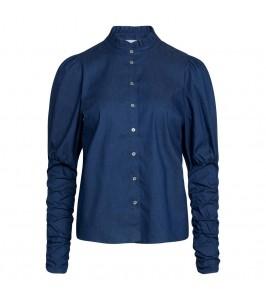 denim blå dameskjorte co couture