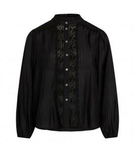 langærmet damebluse sort co couture