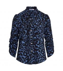bluse sort og blå saint tropez