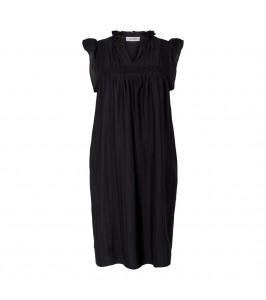 kortærmet damekjole sort co couture