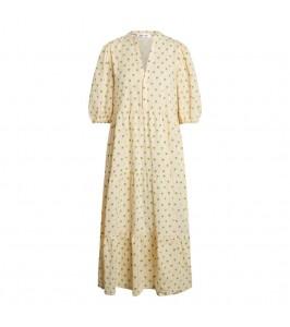 lang hvid og grøn kjole co couture