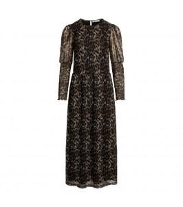 lang kjole leopardprint co couture