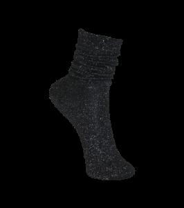 Black Colour Sock lurex black