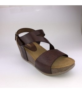 Amust wedge sandal cognac