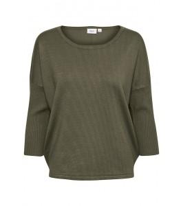 strik bluse army grøn saint tropez