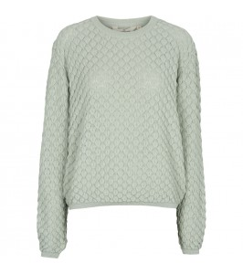 strik sweater lys grøn basic apparel