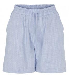 blå dameshorts økologisk bomuld basic apparel