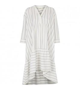 blåstribet kjole basic apparel