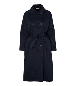 trenchcoat dame jakke navy basic apparel