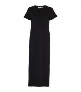 t-shirt kjole rebekka sort basic apparel