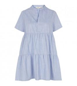 kort blå kjole basic apparel