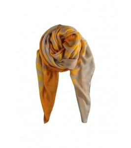Black colour tørklæde stribet gul
