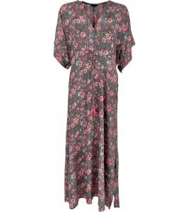 black colour lang kaftan kjole