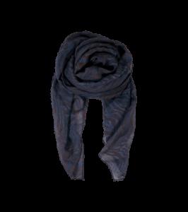 Black Colour tørklæde Zebra navy