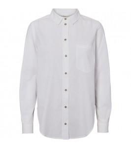 skjorte bright white basic apparel