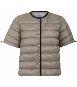 quilted vest jakke coster copenhagen sandfarvet