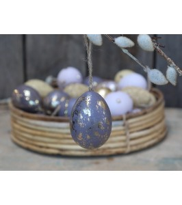 Chic Antique påskeæg i lilla med guld