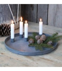 Chic Antique adventsbakke med flytbare lysholdere 51523-00