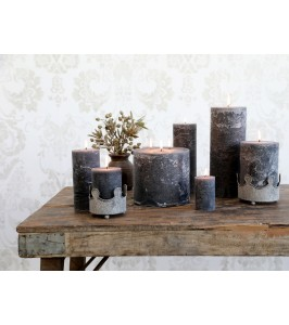 Mørkegrå Macon bloklys fra Chic Antique 71492-25