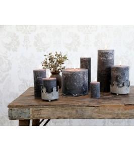 Mørkegrå Macon bloklys fra Chic Antique